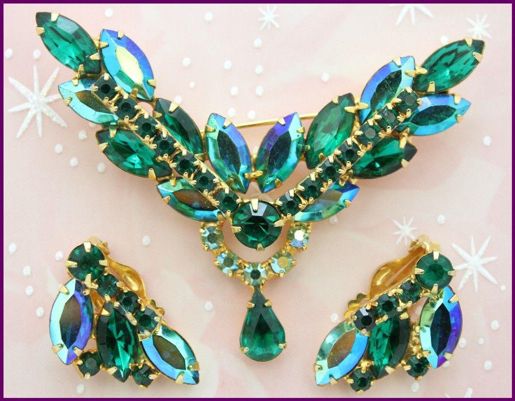 Designer Blue/Green Aurora Borealis Demi
