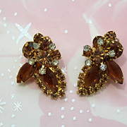 Juliana Smoked Topaz Clip Earrings