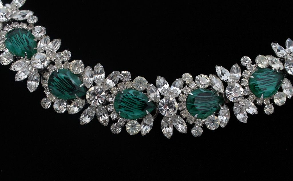Juliana DeLizza & Elster Faux-Emerald Bracelet
