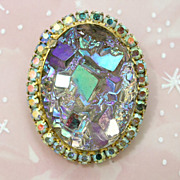 Juliana DeLizza & Elster Rock Crystal Brooch