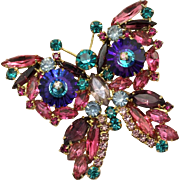Juliana DeLizza & Elster Purple Margarita Butterfly Brooch