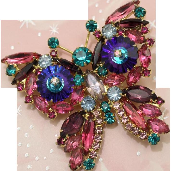 Juliana DeLizza & Elster Purple Margarita Butterfly Brooch
