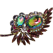 Juliana DeLizza & Elster Watermelon Heliotrope Paisley Brooch