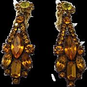Juliana DeLizza & Elster Topaz Enamel Sexy Dangle Earring
