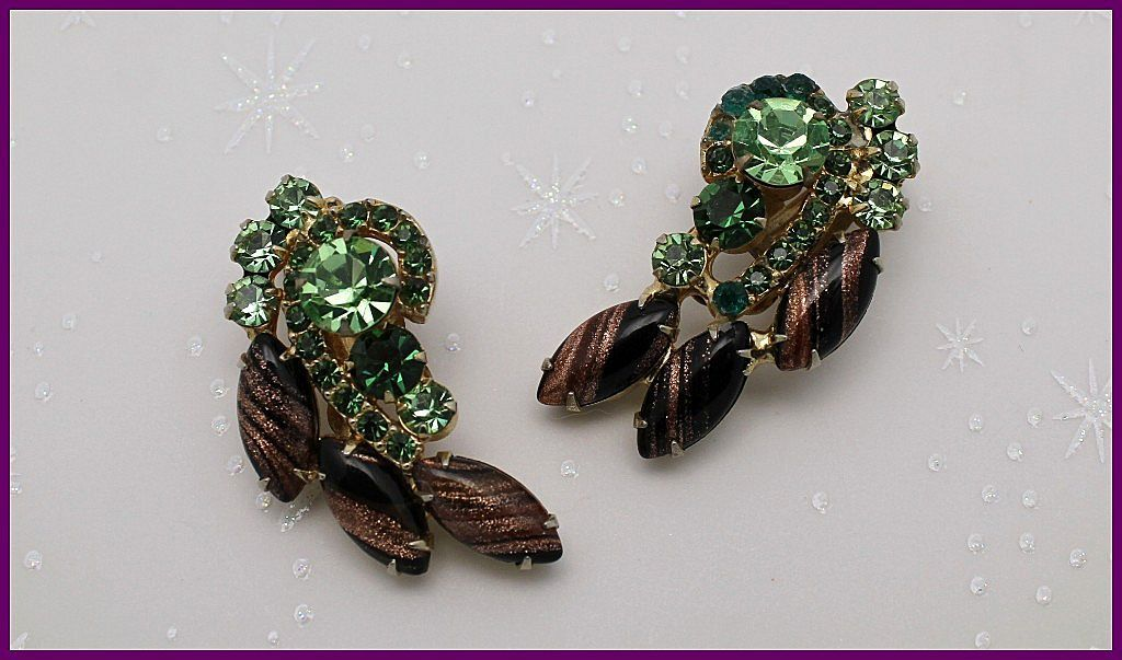Juliana DeLizza & Elster Aventurine Clip Earrings