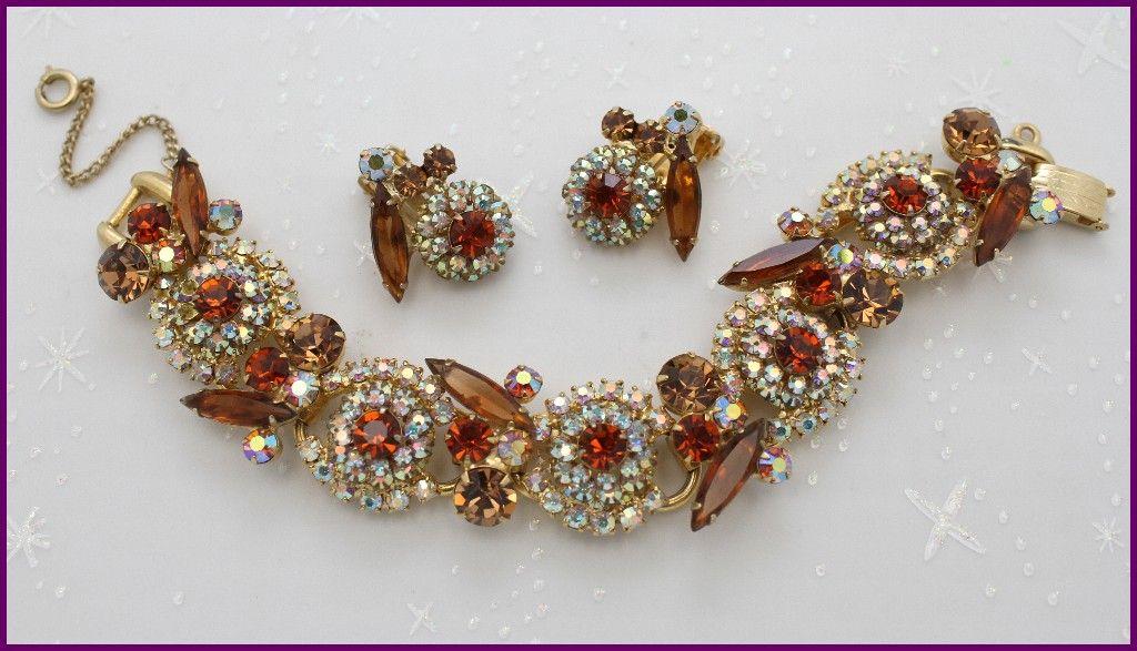 Juliana Topaz  and Aurora Borealis Bracelet and Earrings