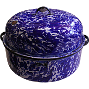 "14"" x 9"" Cobalt Blue Roasting Pan"