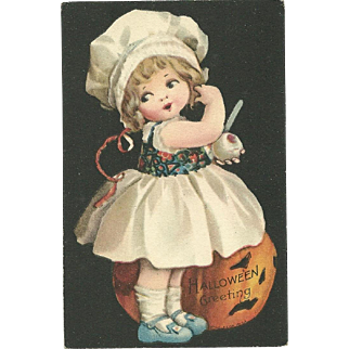 Fantastic Clapsaddle Halloween vintage Postcard Series 501