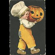 1918 Early Vintage Ellen Clapsaddle Halloween Postcard