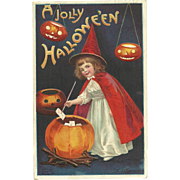 1910 Early Ellen Clapsaddle vintage Halloween Postcard Series 978