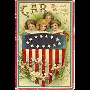 GAR Signed Ellen Clapsaddle GAR Grand Army of the Republic Memorial Day Patriotic