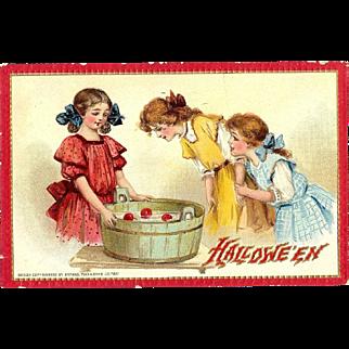 Frances Brundage Tuck Vintage Halloween Postcard  Series 174