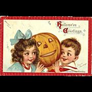 Frances Brundage Vintage Halloween Postcard By TUck Series 120