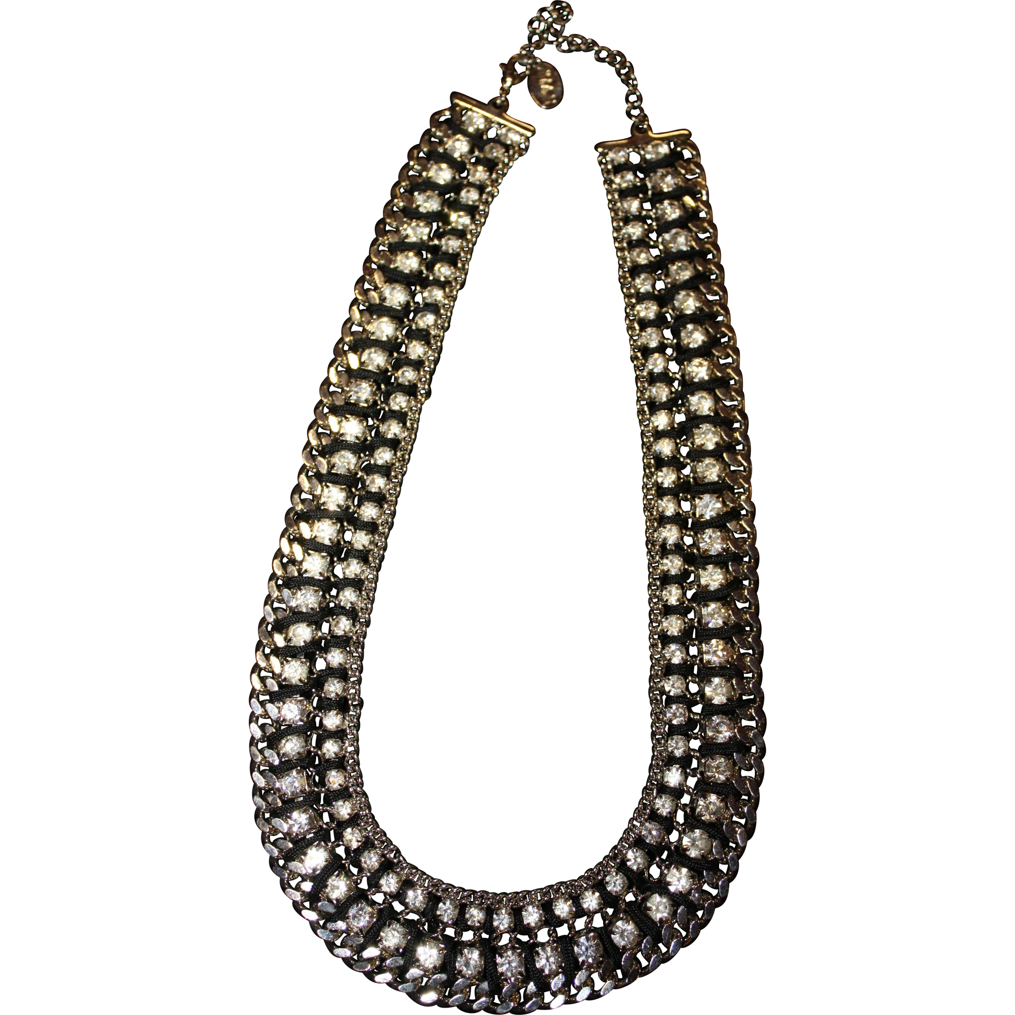 "18"" Stunning IMAN Faux Diamond Necklace"