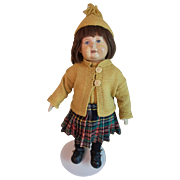 Unusual  16 Inch German Lona Art Doll