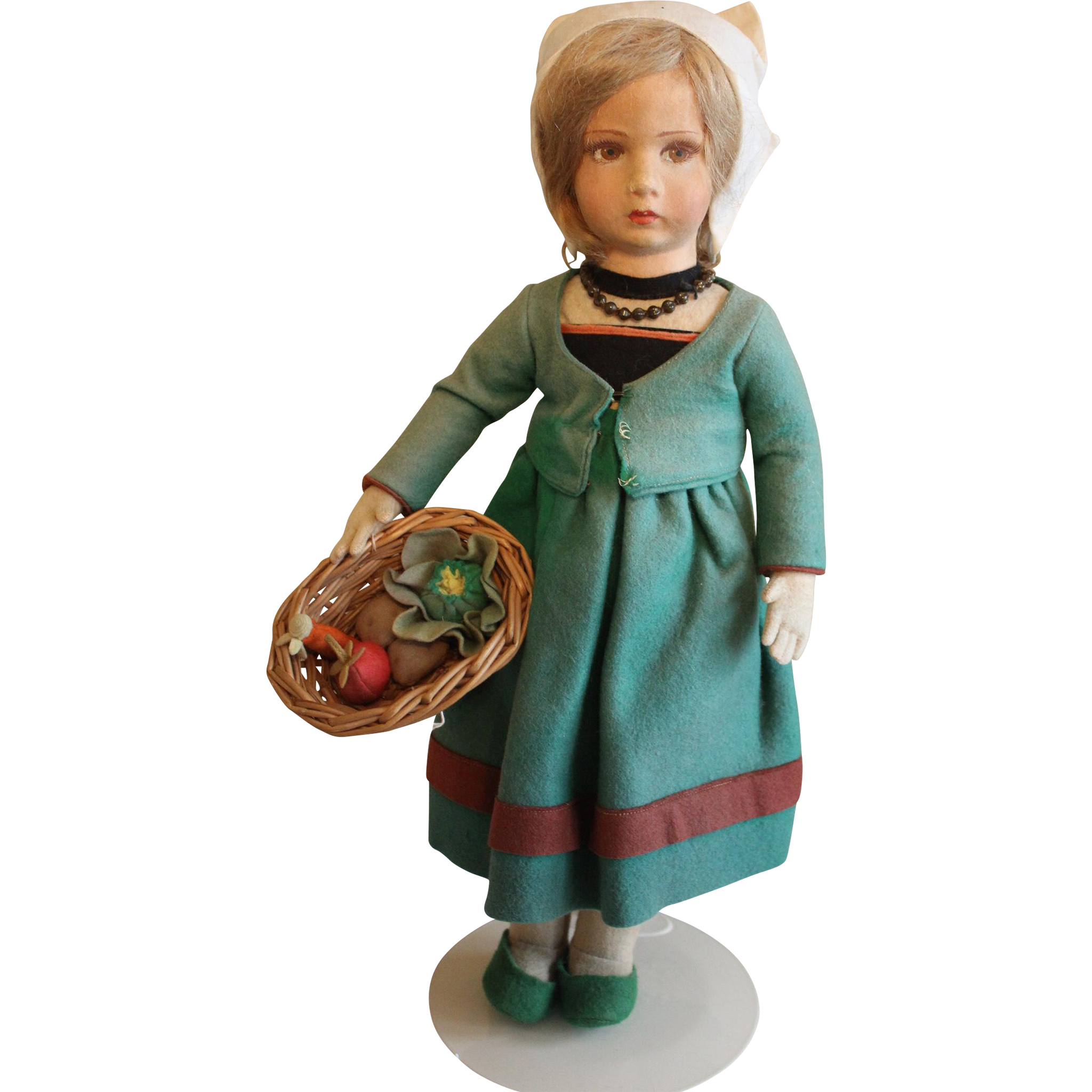 "Wonderful 17"" Felt Lenci Doll"