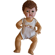 "Cute 1950's 15"" Tiny Tears doll with Caracul Wig"