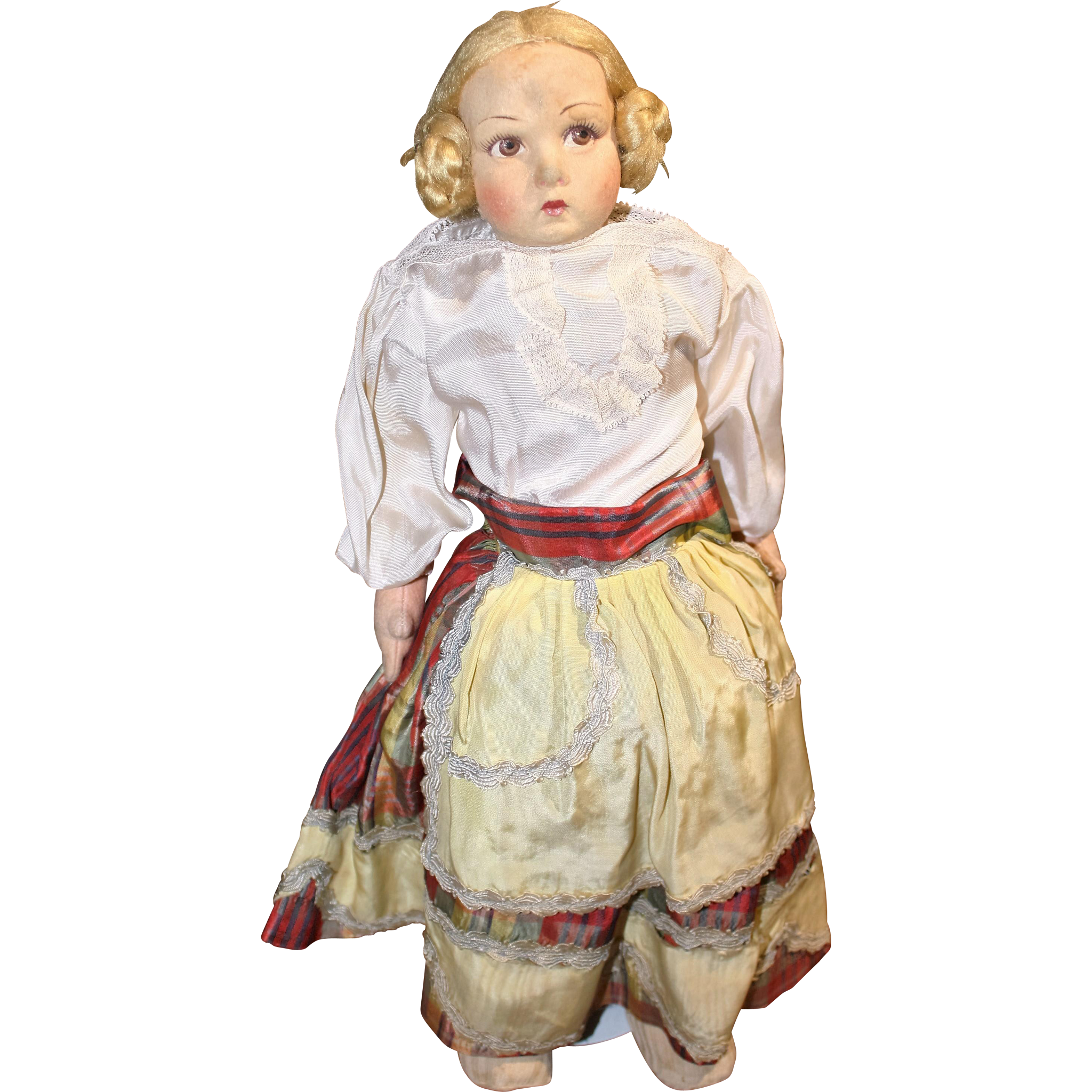 1920's-30's Lenci Type Vintage Felt cloth doll