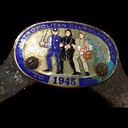 RARE 1945 License Plate Topper Detroit Michigan