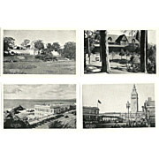 Lot of 18 1930's-40's Railroad Train Black and white Correspondence Postcards San Francisco Western Pacific