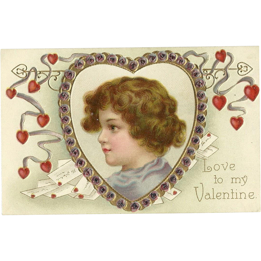 Ellen Clapsaddle Valentine Child Heart Garre Publishing