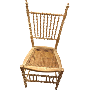 Rare One of a Kind 1900's Primitive Tramp Folk Art Spool Chair