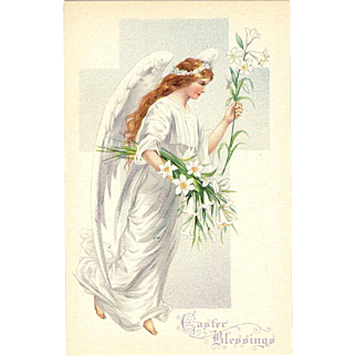 Vintage Easter Angel Postcard by Stetcher Series 778 A