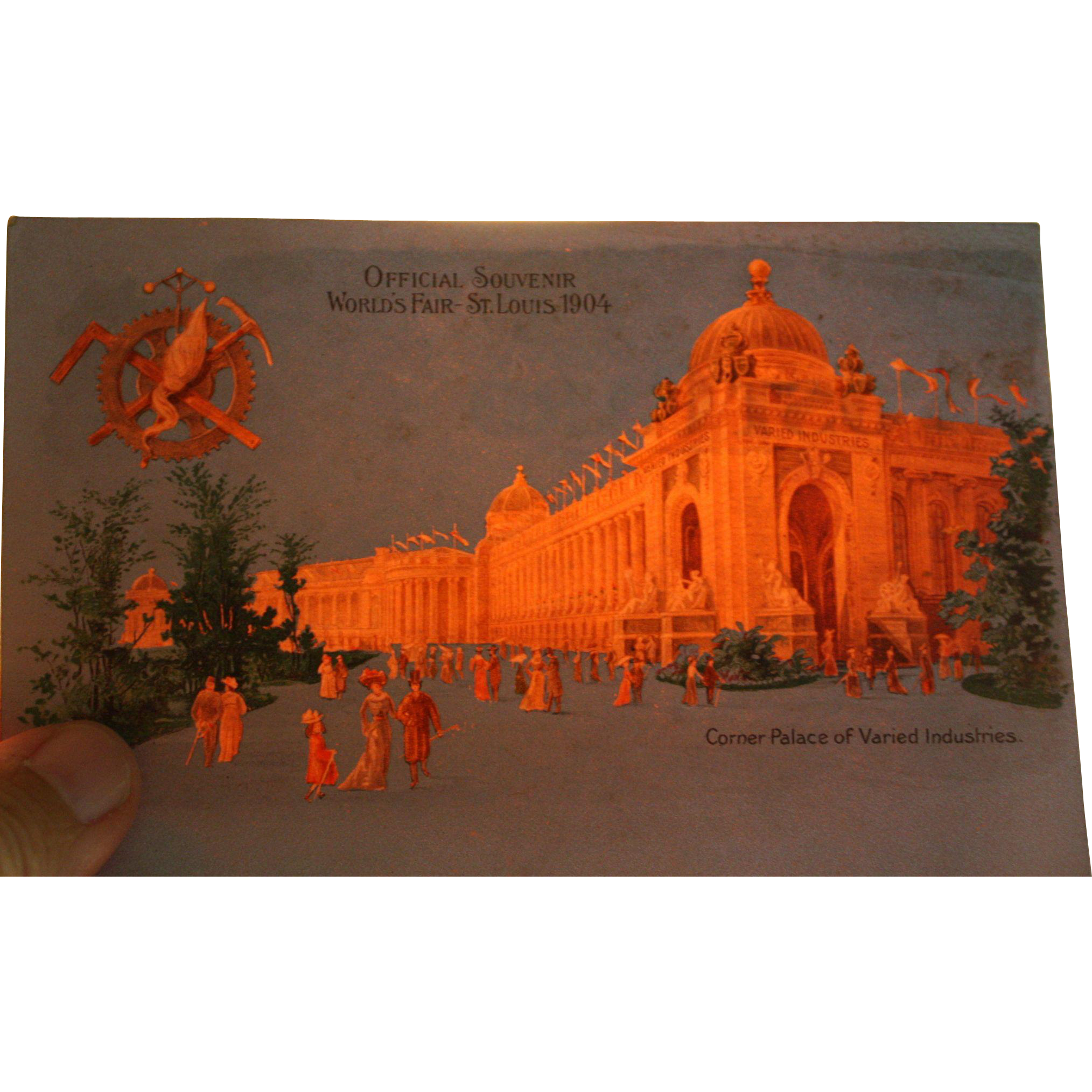 Hold To The Light 1904 St Louis World's Fair Corner Palace of Varied Industries Vintage Postcard