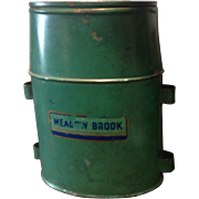 Vintage Green and Blue Meadow Brook Wading Minnow Fishing Bucket