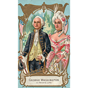 Washington Birthday Series No 1 by Nash George & Martha Washington Patriotic