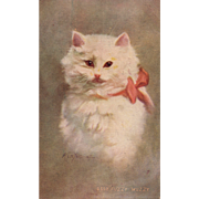 "Artist Signed Kenyon ""Fuzzy Wuzzy #5552"" vintage postcard"