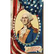 International Art Publishing Vintage Patriotic Postcard of George Washington Ellen Clapsaddle