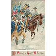 In Memory of George Washington Vintage Postcard Signed R Veenfliet