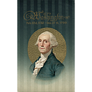 Dignified President George Washington Memorial Postcard by John Winsch