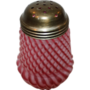 Stunning Cranberry Opal Swirl Sugar Shaker Muffineer