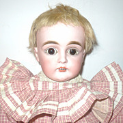 """19"""" Kestner 129 Brown SE Original Pate Wig Fully Jointed Body"""