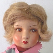 """14"""" !930's French Art Child  Doll from Au Nain Bleu - Red Tag Sale Item"""
