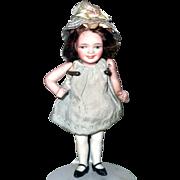 "5"" Orsini 1920  All Bisque Smiling Girl Sleep Eyes Original Wig"