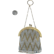 Deco Mesh Chatelaine Purse Gold  Finished Frame &Chain