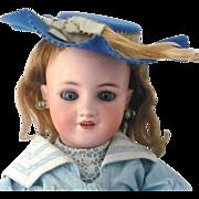 Scarce 18 Inch Simon Halbig 1339 Great Face Blue SE Original Wig Body Finish & Antique Costume
