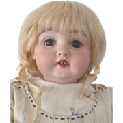 Fine 15 Inch Kestner Chunky Body Original Finish Pate Wig Store Label 143 Face Antique Clothes