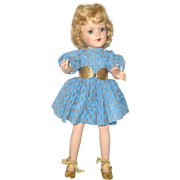 Gold Foil Finished Skates Ballet Slippers Contour Belt and Gold Lurex Hair Net for 14 Inch Composition of HP Mary Hoyer Doll