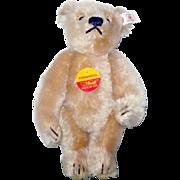 1997 Limited Edition Steiff EAN 665325 Blond 8 Inch Celebration Bear Chest Tag Ear Button Ear Tag