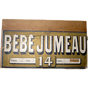12 Inch by  6.75 Inch Lithographed Paper on Wood BEBE JUMEAU Box End for Study Accessory Wall Art