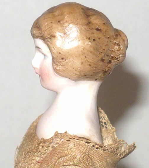 6 inch german bisque sh doll house lady molded bun - Chignon original ...