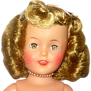 Nice 12 Inch 1950's IDEAl Shirley Temple # 9500 in Box with Tagged Dress Script Name Pin 2nd Dress w Tag+Extras