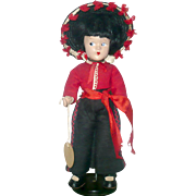 9 Inch Wendy Ann 1930's MA Composition Spanish Boy Original Factory  Costume with Label