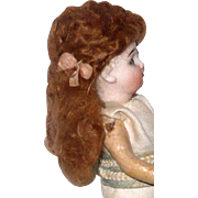 2 Vintage Artist Made Tosca / Strawberry Mohair Wigs for Mignonettes