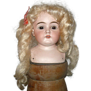 Old Size 10 Blond Mohair Doll Wig with Original card Board Pate Long Curls