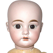 21 Inch AM 1894 Nude No Wig Bulgy Brown Glass Eyes Nice Head Stick Legs Jointed Body Project Doll